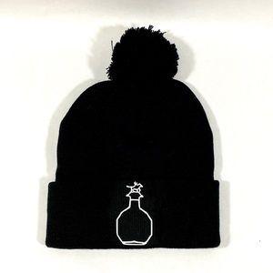Bourbon themed beanie hat with pom